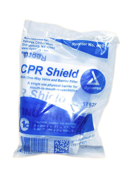 CPR Lifemask Face Shield, One Way Valve and Barrier Filter, Sold By Each