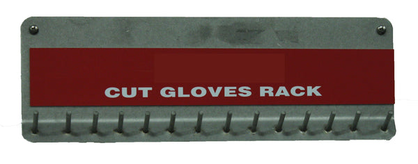 Stainless Storage Rack Cut Resistant Glove 15 Peg, Food Service Safety
