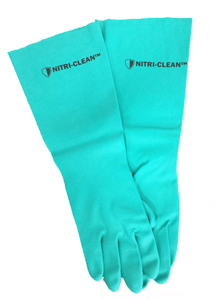 Nitri-Clean™, Green Nitrile Dishwashing Gloves, 22 mil, 18