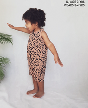 JJ Age 3 years wears age 3-4 years Abstract Animal Kids Shortie jumpsuit | Little Oeuf