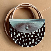 "Spotty & Silver ""Puffin"" Leather Coin Purse/Bag - Little Oeuf"