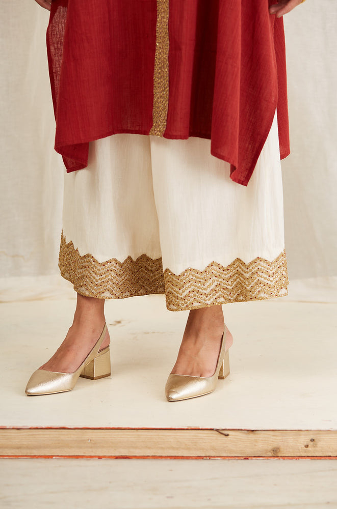 ASSYMETRICAL TUNIC WITH FARSHI AND DUPATTA