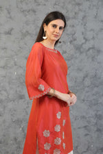 STRAIGHT TUNIC WITH FARSHI