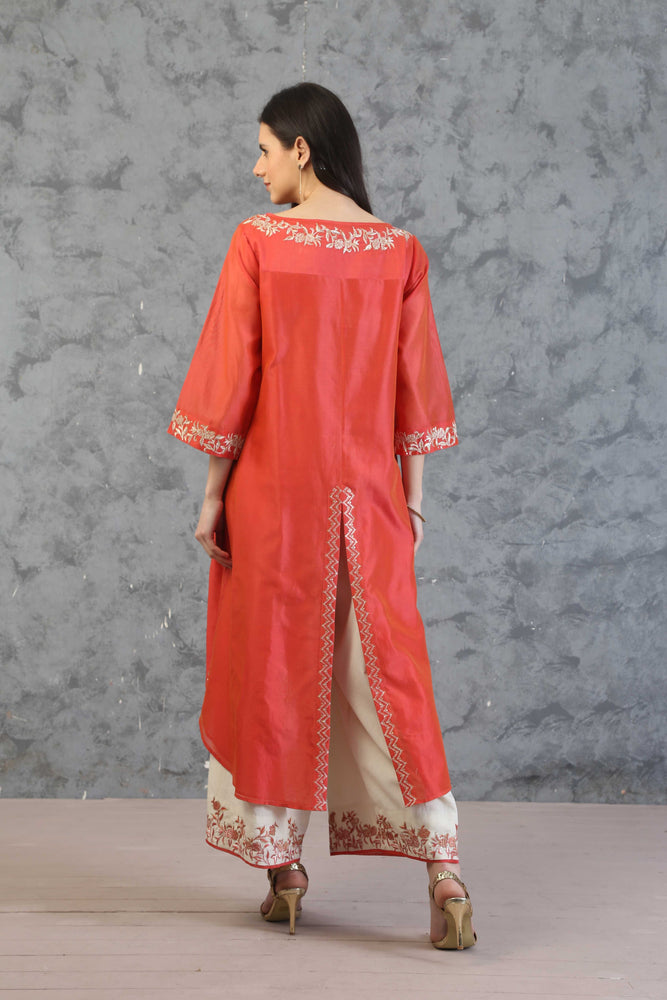 ASSYMETRICAL TUNIC WITH FARSHI