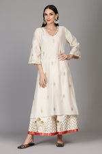 STRAIGHT TUNIC WITH FARSHI AND DUPATTA