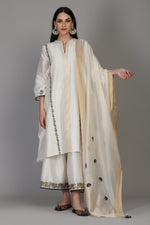 BACK BANARASI KALI ASSYMETRICAL TUNIC WITH FARSHI AND DUPATTA