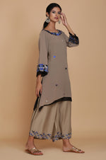 ASSYMETRICAL DOUBLE LAYER TUNIC WITH FARSHI