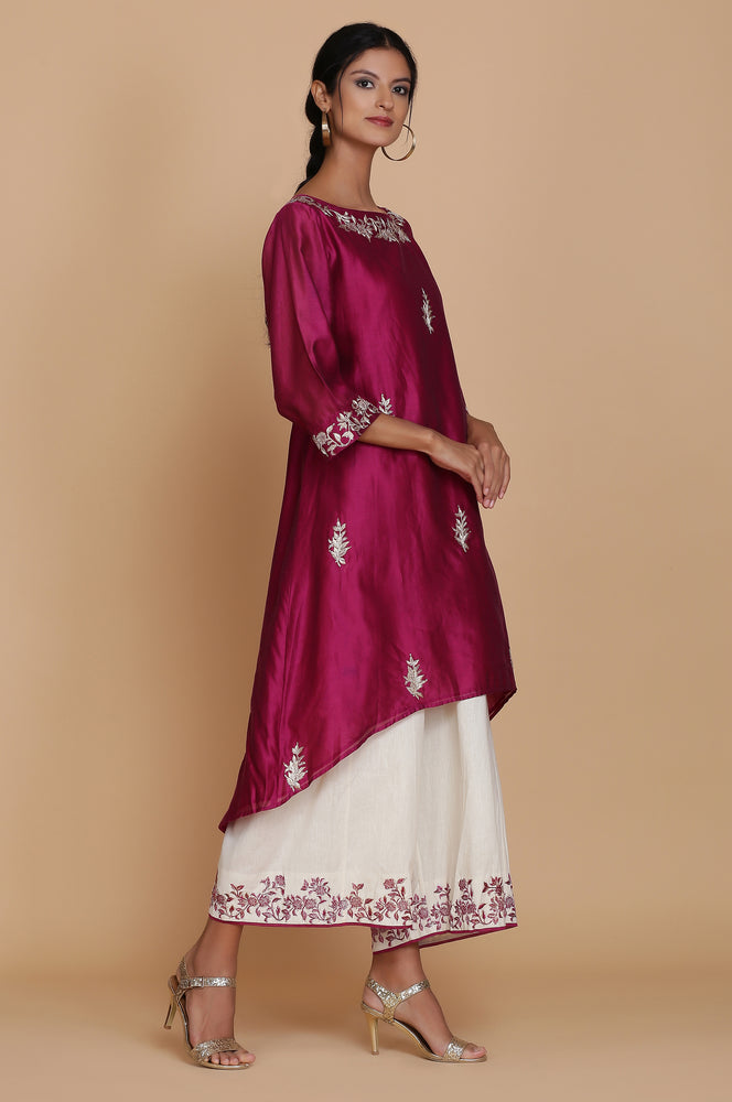 ASYMMETRICAL TUNIC WITH FARSHI