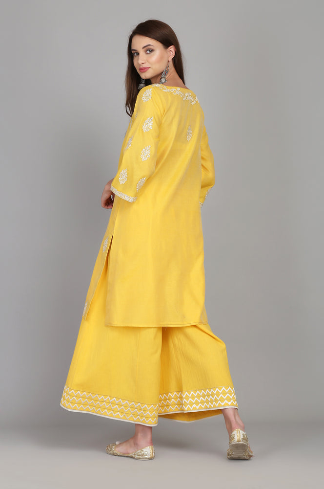 STRAIGHT TUNIC WITH FARSHI AND BANARASI DUPATTA