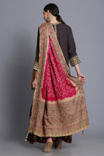 Heavy georgette Assymetrical tunic with sharara and Badhej/ Ajrakh dupatta