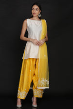 SHORT TUNIC WITH SALWAR AND DUPATTA