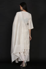 IVORY TUNIC WITH FARSHI AND DUPATTA