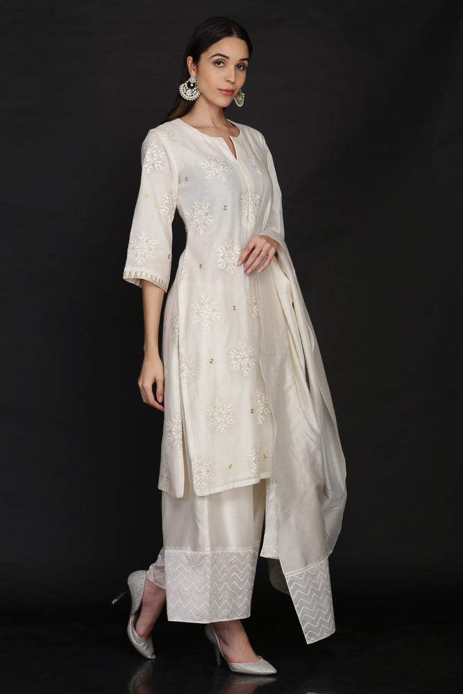 TUNIC WITH FARSHI AND DUPATTA