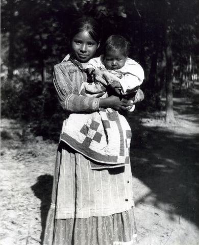 Indigenous Woman and Child