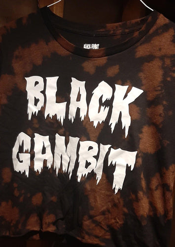 Bleach Dye Crop T - Shop OrigineBleach Dye Crop TshirtBlack Gambit