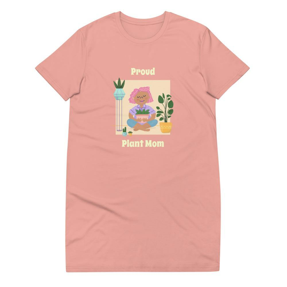 Proud Plant Mom Organic cotton t-shirt dress - Shop OrigineProud Plant Mom Organic cotton t-shirt dressShop Origine
