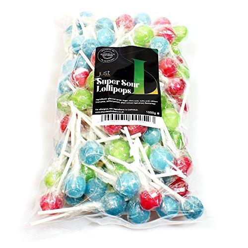 Just Treats Super Sour Lollies (1 Kilo Party Bag)