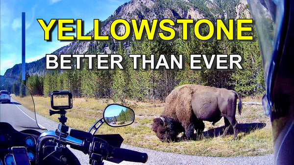 motorcycle camping, motorcycle through yellowstone, Yellowstone National Park, motorcycle into yellowstone,