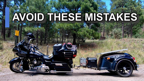 Motorcycle trailer mistakes, How to pull a motorcycle trailer, thing to avoid when pulling a trailer