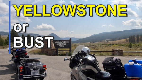 motorcycle camping, camping in yellowstone, two wheels big life, bozman mt, mining pit, toxic waste,