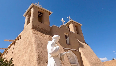 Rancho de taos, taos, new mexico, high road to taos, motorcycle ride, san francisco de asis church