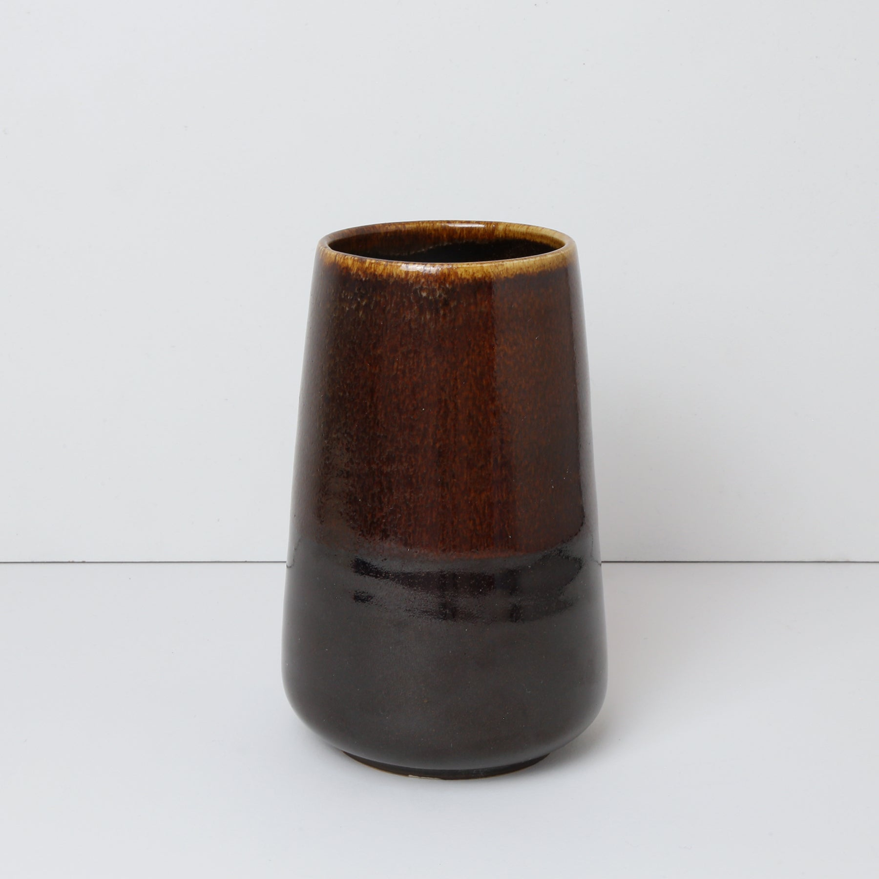 Small Vase, Chocolate Fudge