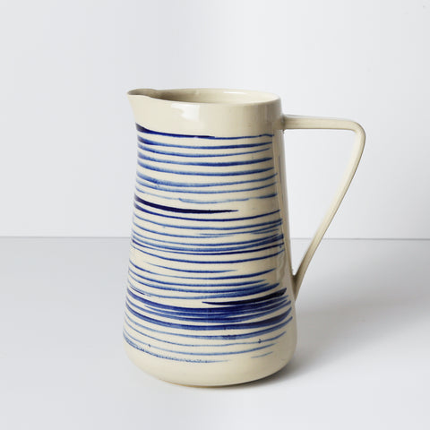 Water Jug, Blue Pinstripe