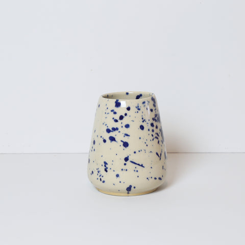 Tiny Vase, Blue Splash