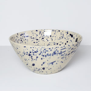 Large Bowl, Blue Splash