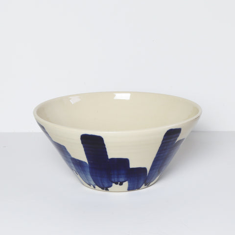 Medium Bowl, Blue Vertigo
