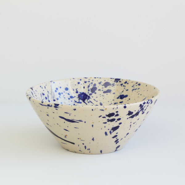 Small Bowl, Blue Splash