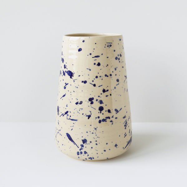 Large Vase, Blue Splash