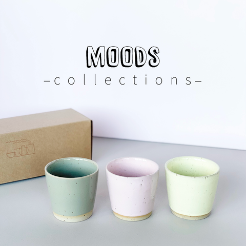 MOODS collections Ø-CUPS: Jade, Lemonade and Candy Floss