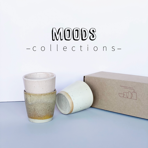 MOODS collections Ø-CUPS: Old Rose, Creamy White and Sand