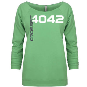 CF 4042 Ladies Terry Raw Edge 3/4 Sleeve Sweatshirt