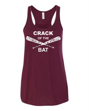 Load image into Gallery viewer, Crack of the Bat - Women's Flowy Racerback Tank
