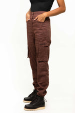 THE PANTS in Wine Red