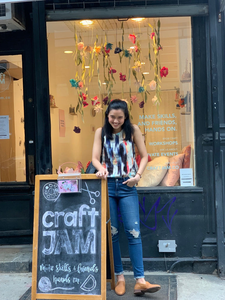 Paper Forest Window Display @CraftJam Soho