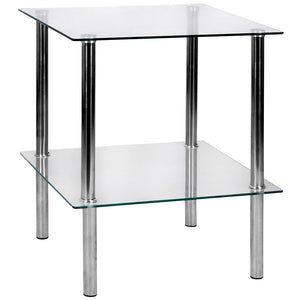 2 Tier Glass Unit Clear