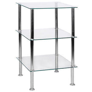 3 Tier Glass Unit Clear