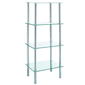 4 Tier Glass Unit Clear