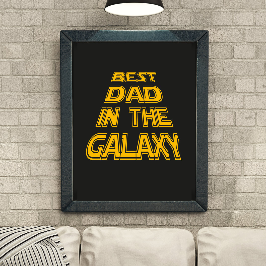 best dad in the galaxy print
