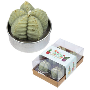 Ridged Cactus Tea Lights - Set of 6