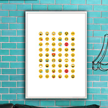 Emoji Faces Print