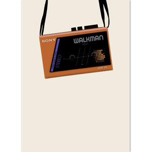 Retro Sony Walkman Print