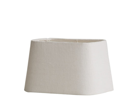 Rustic Linen shade white 20,5x12,5 cm.