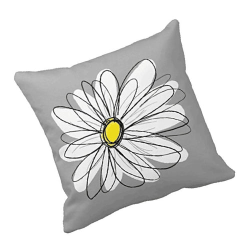 Pretty Daisy Grey Cushion Cover