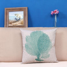Tree Design Linen Style Cushion Cover