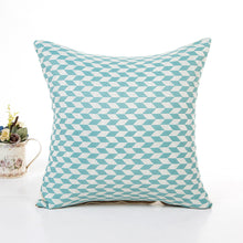 Stylish Flax Checkered Cushion Cover