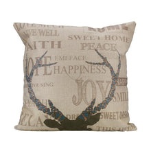 Vintage Stag Head Cushion Cover